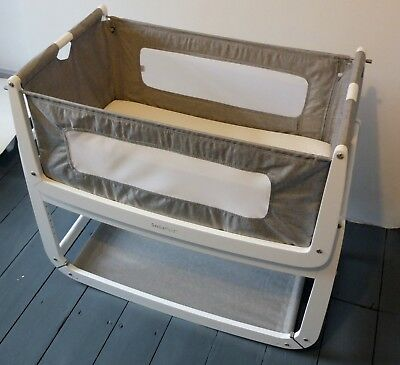 Snuzpod3 3-in-1 Bedside Crib Cot in Dusk With Reflux Incline