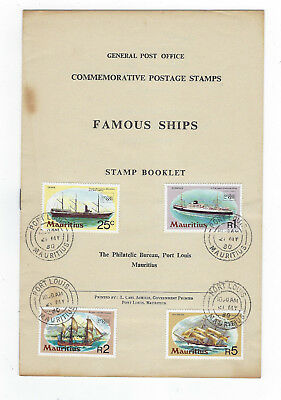 Timbre Mauritius / Ile Maurice Stamp Booklet Timbres Bateaux