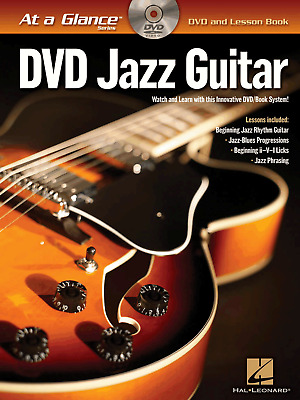 JAZZ GUITAR DVD & TAB Sheet Music Book Rhythm Jazz Blues Phrasing Progressions
