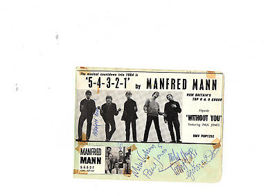 Manfred Mann Signed Album Page