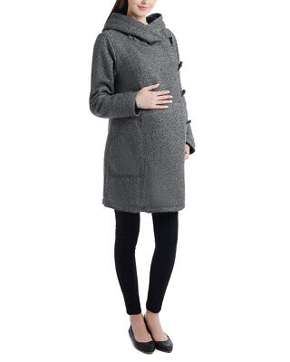 Momo Maternity Womens  Wrap Hood Travel Coat, M