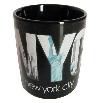 New York City Skyline NYC Coffee Mug Black Ceramic Statue of Liberty Handle