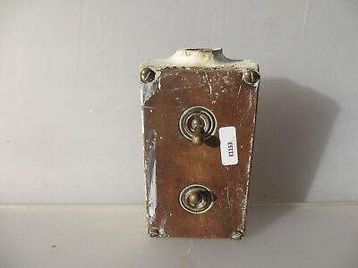 Vintage Brass Double Light Switch Industrial Art Deco Antiques Iron Old Factory