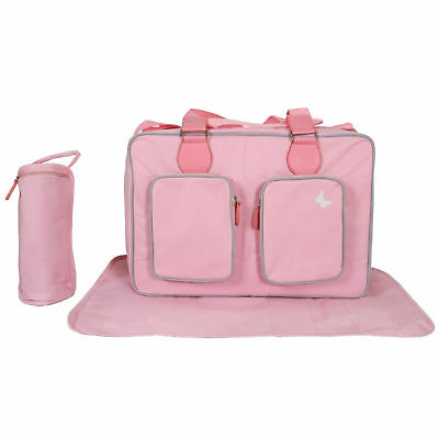 New My Babiie Pink Deluxe Baby Maternity Nappy Changing Bag & Change Mat