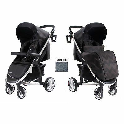 New My Babiie Eclipse Mb109 Pushchair Compact Stroller With Raincover & Footmuff