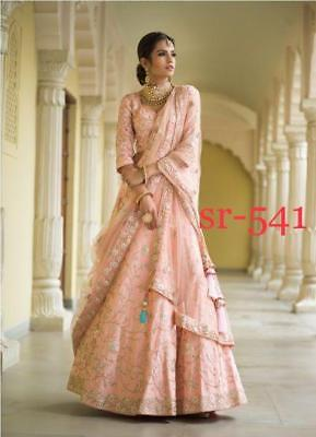SR541 Ethnic Silk Lehenga Choli women party wear Embroidery Work India Pakistan