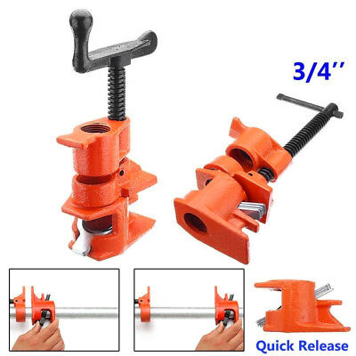 """3/4"""" Wood Gluing Pipe Clamp Set Heavy Duty PRO Woodworking Cast Iron Quality New"""