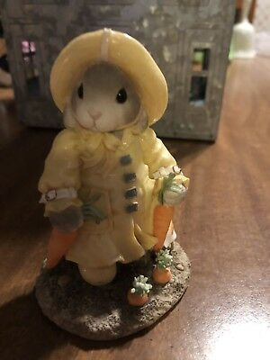 1996 My Blushing Bunnies Figurine Your A Blessing On A Rainy Day Enesco