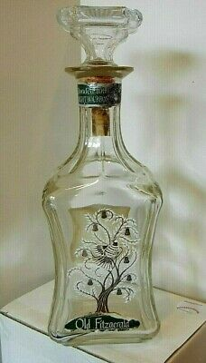 Old Fitzgerald Bourbon Whiskey Liquor Collection Decanter - Vintage -Partridge