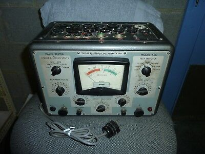 Taylor tube tester model 45C with original manual , tube charts ...