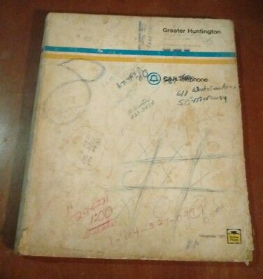Huntington WV 1971 C&P Telephone Directory Phone Book Kenova Ceredo Prichard
