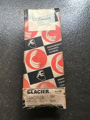 Glacier Main Bearings M5195M  030 Ford NOS