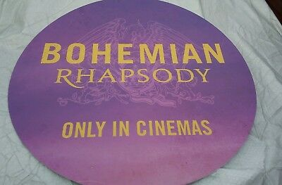 Bohemian Rhapsody Movie Premiere Carnaby St Circular Sign Rare One Off (Queen)