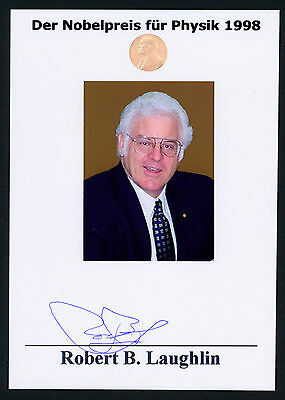 Robert Betts Laughlin (Nobel Prize Physics 1998) Autographed Signed Photograph