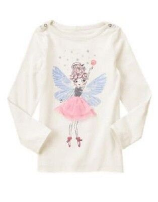 723d2192 NWT Girls 10 Gymboree Glitter Sequins Tulle Sparkle Fairy L/S Top Tee Shirt  NEW