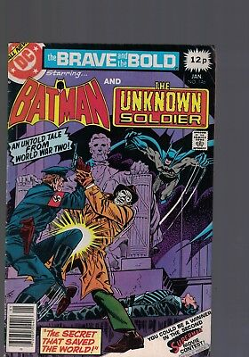 DC Comics the Brave and The Bold # 145 Jan 1979 Batman & the unknown Soldier