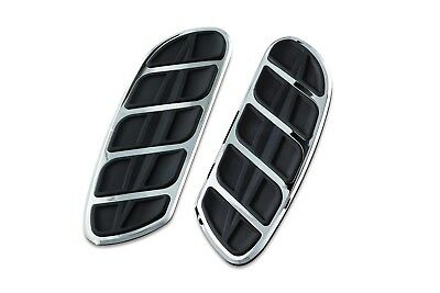 Kuryakyn 4396 Chrome Kinetic Floorboard Inserts Harley Swept Wing Driver Boards