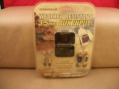 New Scosche AM35 Weather Resistant AUX Input With 3.5Mm Cable