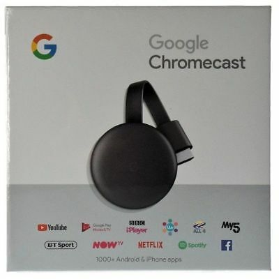 Google Chromecast Video 3 Hdmi Streaming Video Media Player Nuovo Modello 2018