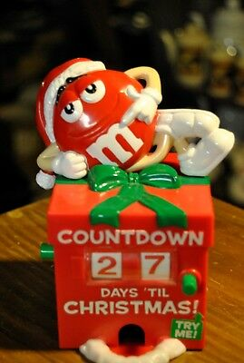"M&M ""Red"" Count Down To Christmas Candy Dispenser"