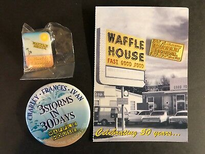 Waffle House memorabilia 2004-2005 50th anniversary, 3 storms in 30 days