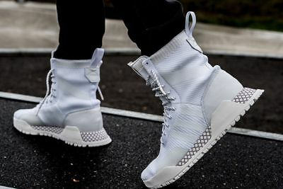 44a8300a8b23 NEW Adidas Originals AF 1.3 PK Primeknit Men s Boots White Vintage White  BY3007