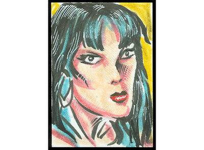 Vampirella 2012 Sketch Card Jeff Zapata   150053