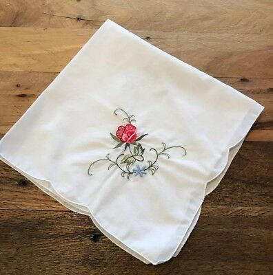 """Vintage Embroidered Table Napkins Lot Of 12.  16"""" square"""