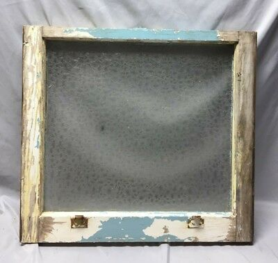 Antique Florentine Privacy Glass Window Sash Shabby Vintage Chic 22X24 90-19C