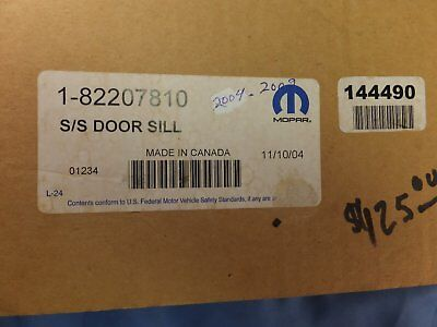 2004 -2009 Dodge Durango S/Steel Door Sill Plates 82207810 4 Pieces OEM/NOS NIB