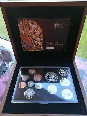 2009 Executive Proof Coin Set KEW GARDENS 50p coin Fifty Pence