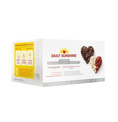 Daily Sunshine Smoothie Beachbody Strawberry Banana and Chocolate Box of Packets