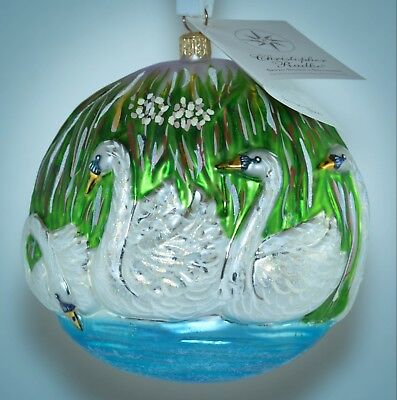 Christopher Radko Ornament 12 Days of Christmas SEVEN SWANS A SWIMMING No. 490