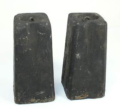 PAIR of ANTIQUE AMERICAN 8 DAY WEIGHT DRIVEN CLOCK WEIGHTS - SP04