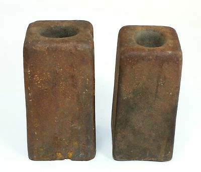PAIR of ANTIQUE AMERICAN 8 DAY WEIGHT DRIVEN CLOCK WEIGHTS - SP02