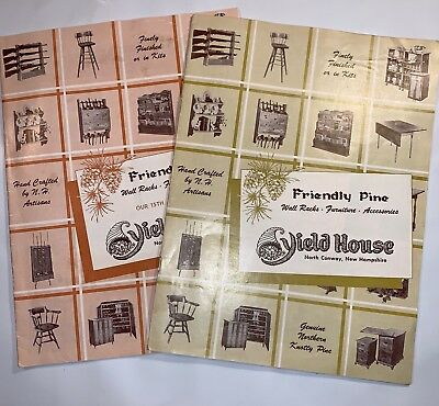 (2) Vintage All Original Yield House Friendly Pine Furniture Catalog NH