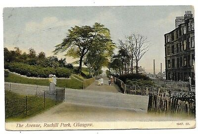 GLASGOW Postcard Avenue Ruchill Park 1906 Postmark Angry Message!