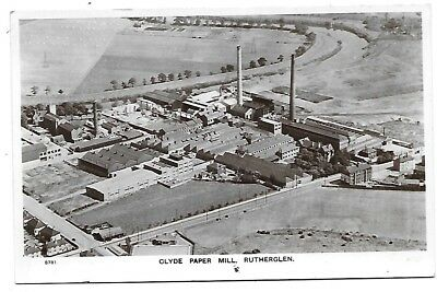 RUTHERGLEN Postcard Clyde Paperrmill Glasgow Aero Pictorial