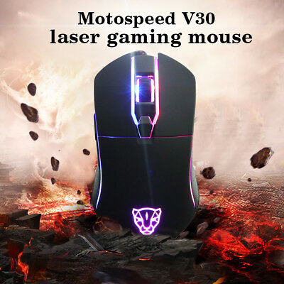 RGB Wired MotoSpeed Optical Gaming Mouse LED Backlit Programmable Buttons USA