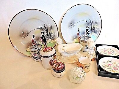 Antique Porcelain Job Lot 12 Items Royal Worcester, Coalport, Limoge, Minton etc