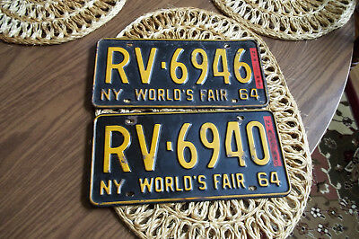 Two Automobile  Tags Worlds Fair 1964, New York
