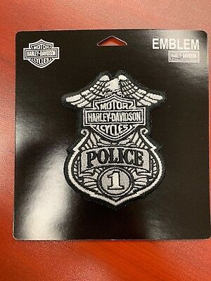 New Sew-On Police Harley Davidson Patch