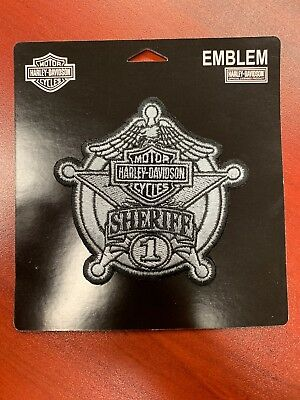 New Sew-On Sheriff Harley Davidson Patch
