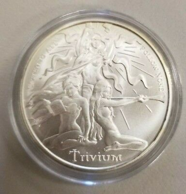 1 Troy Oz 2018 TRIVIUM Girl Silver Shield Round .999 Pure Ag - IN-STOCK!!
