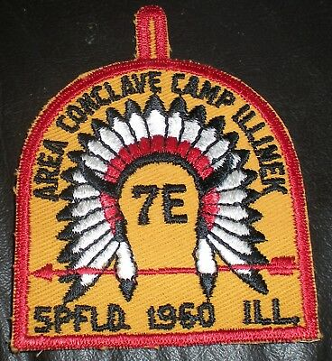 Vintage BSA 1960 Area 7E Conclave Camp Illinex Patch  NICE!!  FREE SHIPPING!!
