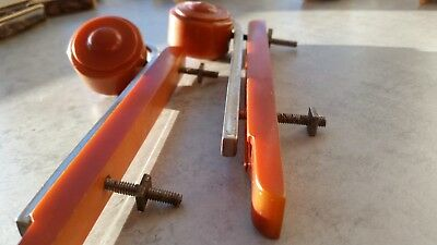 Art deco vintage lot amber metal industrial handles pulls marple bakelite door