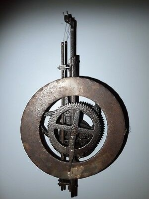 Iron Framed Hook and spike Clock