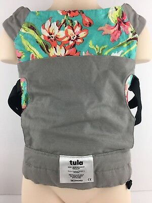 Tula Mini Doll Toy Carrier Bliss Bouquet Floral Gray Backpack