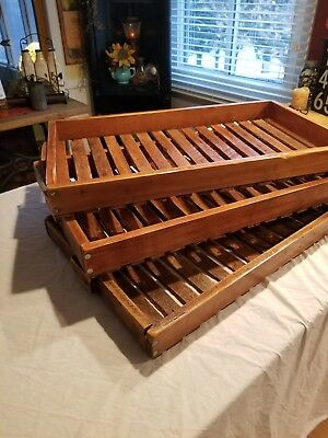 Antique Wooden Herb Drying Racks Lot Of 3 Amazing  Original Large WOW!
