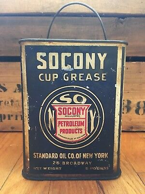 1930 SOCONY Standard Oil Cup Grease Oil Can